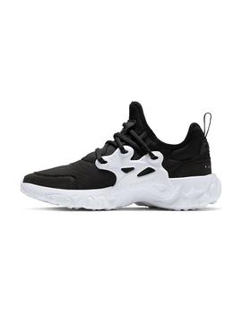 ZAPATILLAS NIKE REACT PRESTO GS BLCK/WHITE