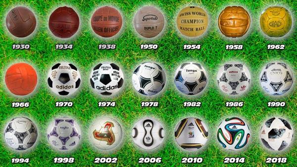 Balones de fútbol desde la primera Copa del Mundo DeportesCaneda 6906a41bb680f